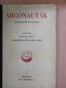 Devecseri Gábor - Argonauták 1937. március 21. [antikvár]