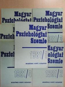 Aczél György - Magyar Pszichológiai Szemle 1981/1-6. [antikvár]