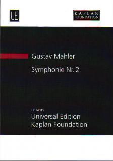 MAHLER, GUSTAV - SYMPHONIE NR.2 IN FÜNF SAETZEN (1894, LETZTE REVISION 1910) STUDIENPARTITUR