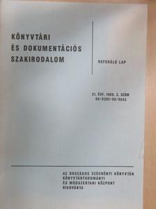 Balázs János - Könyvtári és dokumentációs szakirodalom - Referáló lap [antikvár]