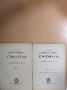 Gunda Béla - A Magyar Tudományos Akadémia Társadalmi-Történeti Tudományok Osztályának közleményei 1953/1-4. [antikvár]