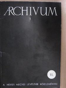 Dr. Bohony Nándor - Archivum 11. [antikvár]