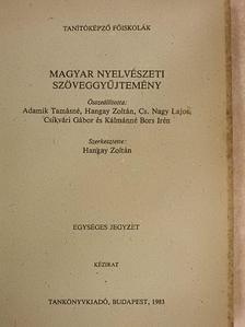 Antal László - Magyar nyelvészeti szöveggyűjtemény [antikvár]