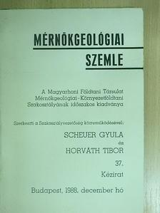 Bácskay Erzsébet - Mérnökgeológiai Szemle 1988. december [antikvár]