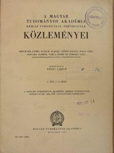 Alfred Paul Wende - A Magyar Tudományos Akadémia Kémiai Tudományok Osztályának Közleményei 1954/1-2. [antikvár]