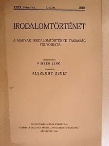 Császár Elemér - Irodalomtörténet 1940/1. [antikvár]