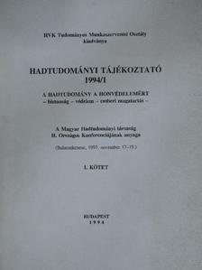 Ács Tibor - Hadtudományi tájékoztató 1994/1. [antikvár]
