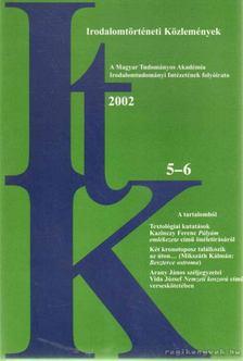 Szörényi László - Irodalomtörténeti Közlemények 2002. CVI. évfolyam 5-6. szám [antikvár]