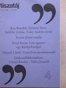 Alföldy Jenő - Tiszatáj 1993. április [antikvár]