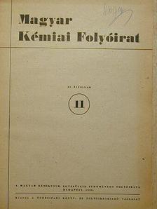 Almássy Gyula - Magyar Kémiai Folyóirat 1951. 11. szám [antikvár]