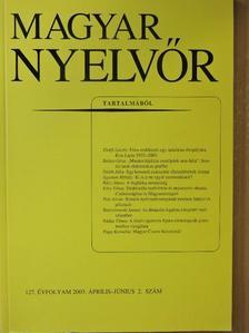 Ágoston Mihály - Magyar Nyelvőr 2003. április-június [antikvár]