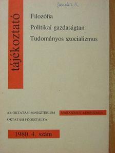 Anderle Ádám - Tájékoztató 1980/4. [antikvár]