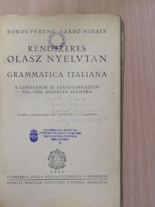 Boros Ferenc - Rendszeres olasz nyelvtan [antikvár]