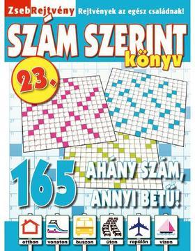 CSOSCH KIADÓ - ZsebRejtvény SZÁM SZERINT Könyv 23.