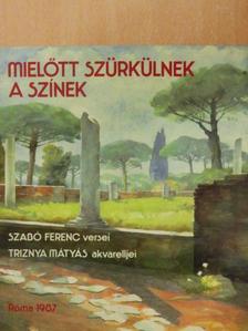 Szabó Ferenc - Mielőtt szürkülnek a színek [antikvár]