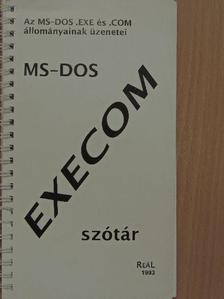 Kis Balázs - MS-DOS Execom szótár [antikvár]