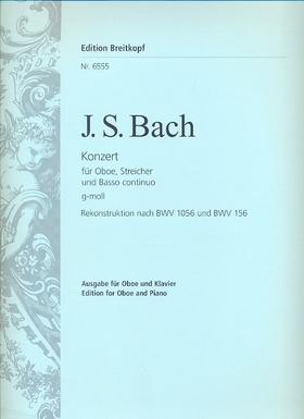J. S. Bach - KONZERT FÜR OBOE, STREICHER UND BASSO CONTINUO g-MOLL AUSGABE FÜR OBOE UND KLAVIER