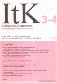 Szörényi László - Irodalomtörténeti Közlemények 1999. CIII. évfolyam 3-4. szám [antikvár]