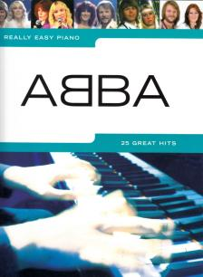 ABBA - ABBA, 25 GREAT HITS FOR REALLY EASY PIANO WITH TEXT