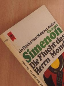 Georges Simenon - Die Flucht des Herrn Monde [antikvár]
