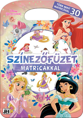 Disney - Színezőfüzet matricákkal - Disney Hercegnők - Több mint 30 matricával