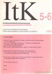 Szörényi László - Irodalomtörténeti Közlemények 1998. CII. évfolyam 5-6. szám [antikvár]