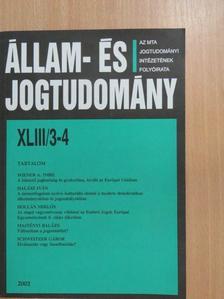 Halász Iván - Állam- és Jogtudomány 2002/3-4. [antikvár]