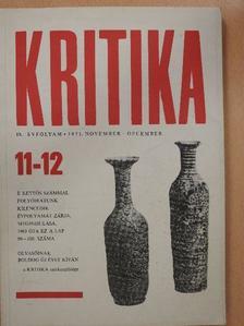 Ágh István - Kritika 1971. november-december [antikvár]