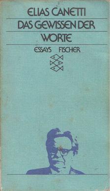 Elias Canetti - Das Gewissen der Worte [antikvár]