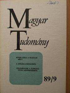 Csillag András - Magyar Tudomány 1989. szeptember [antikvár]