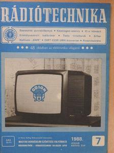 Jakubik Béla - Rádiótechnika 1988. július [antikvár]