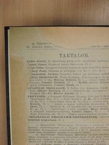 Arany J. - Egyetemes Philologiai Közlöny 1904. (nem teljes évfolyam) [antikvár]