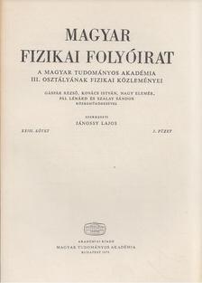 Jánossy Lajos - Magyar fizikai folyóirat XXIII. kötet 3. füzet [antikvár]
