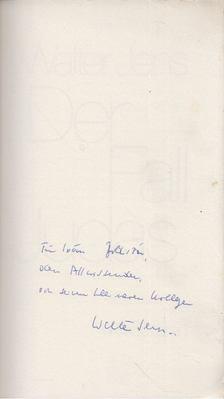 Walter Jens - Der Fall Judas (dedikált) [antikvár]