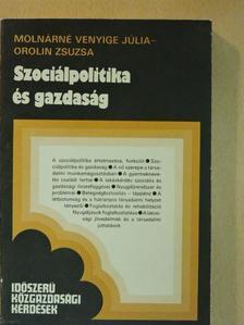 Molnárné Venyige Júlia - Szociálpolitika és gazdaság [antikvár]