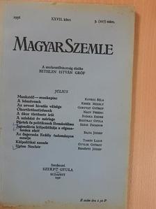 Bajza József - Magyar Szemle 1936. július [antikvár]