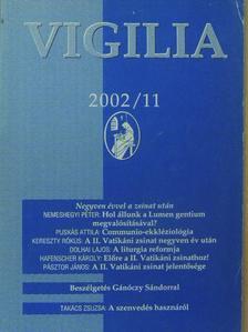 Bende József - Vigilia 2002. november [antikvár]
