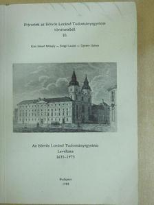 Kiss József Mihály - Az Eötvös Loránd Tudományegyetem Levéltára 1635-1975 [antikvár]