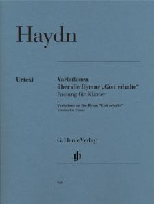 """HAYDN J. - VARIATIONEN ÜBER DIE HYMNE """"GOTT ERHALTE"""" FÜR KLAVIER URTEXT (GERLACH)"""