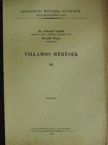 Osváth Péter - Villamos mérések III. [antikvár]