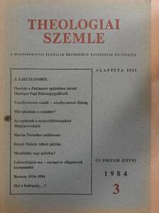 Adorján József - Theologiai Szemle 1984/3. [antikvár]