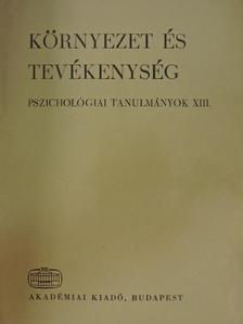 Dr. Popper Péter - Környezet és tevékenység [antikvár]