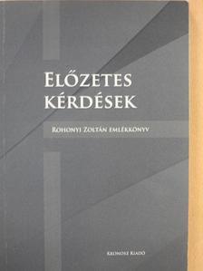 Balázs-Hajdu Péter - Előzetes kérdések [antikvár]