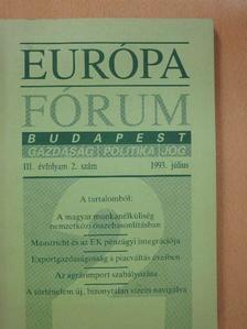 Antalóczy Katalin - Európa Fórum 1993. július [antikvár]