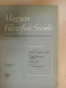 Fogarasi Béla - Magyar Filozófiai Szemle 1958/2-4. [antikvár]