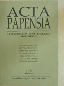 Dr. Hudi József - Acta Papensia 2003/3-4. [antikvár]