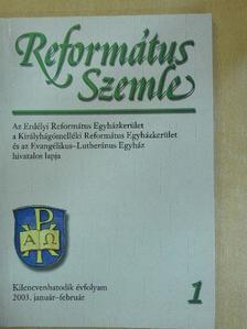 Adorjáni Zoltán - Református Szemle 2003. január-február [antikvár]