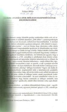 Szilágyi Miklós - Adalékok a háziállatok időleges hasznosításának jogszokásaihoz (dedikált) [antikvár]