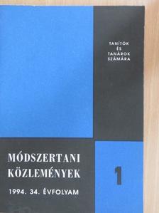 Dr. Bereczki Sándor - Módszertani közlemények 1994/1. [antikvár]