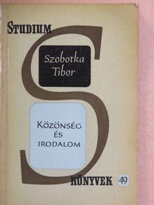 Szobotka Tibor - Közönség és irodalom [antikvár]